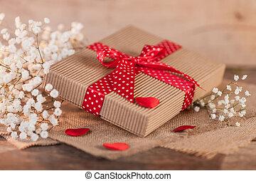 Una caja de regalos el día de San Valentín