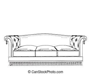 Una cama antigua