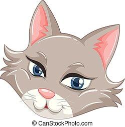 Una cara de gato lindo
