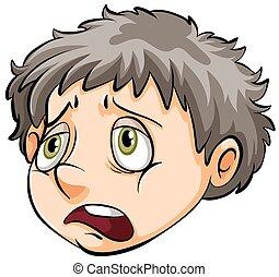 Una cara de niño triste