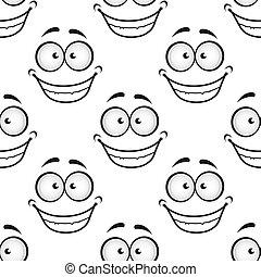 Una cara feliz sin forma