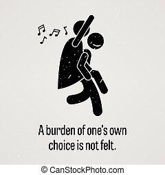 Una carga de una propia elección no es F