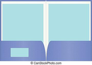 Una carpeta de presentación