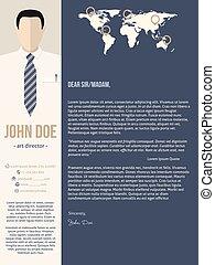 Una carta de presentación moderna con hombres de negocios