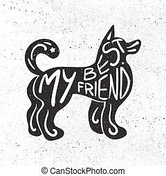 Una carta dibujada a mano en mascota
