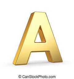 Una carta dorada en blanco