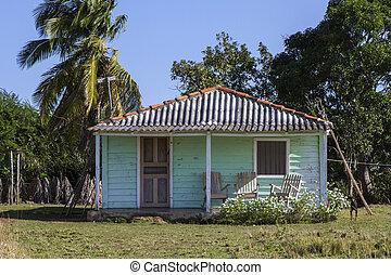 Una casa residencial en Cuba