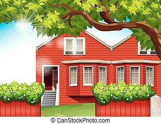 Una casa roja