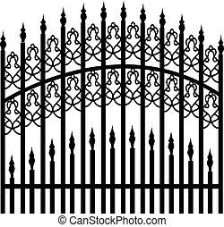Una cerca de hierro