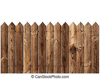Una cerca de madera