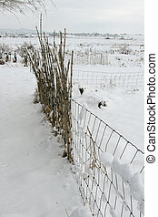 Una cerca de nieve