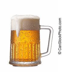 Una cerveza