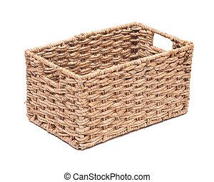 Una cesta de almacenamiento de hierba marina antigua
