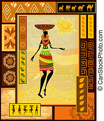Una chica africana vestida decorativa