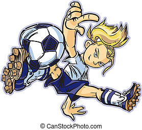 Una chica blanca que bailaba fútbol