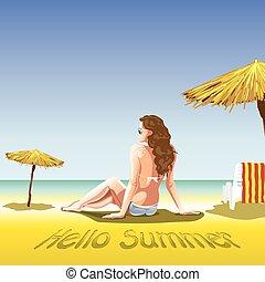 Una chica con gafas de sol y nadadora