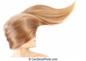 Una chica con un pelo precioso