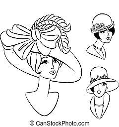 Una chica de moda con sombrero.
