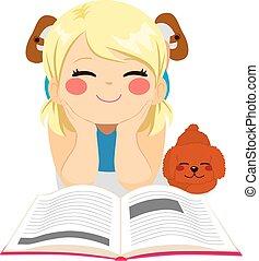 Una chica dulce leyendo