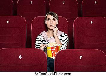 Una chica en el cine