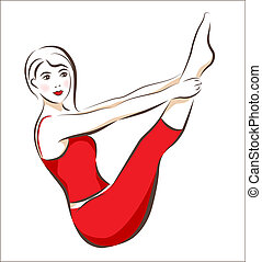Una chica haciendo ejercicio