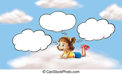 Una chica que miente y piensa en el cielo