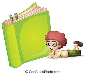 Una chica tirada cerca de un libro