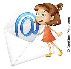 Una chica y un correo