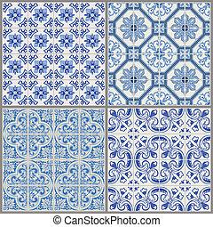 Una colección de antecedentes clásicos, azulejo victoriano en vector