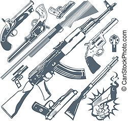 Una colección de armas