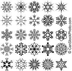Una colección de copos de nieve