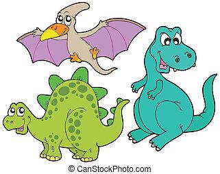 Una colección de dinosaurios