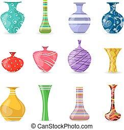 Una colección de jarrones de colores para tu diseño