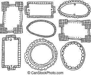 Una colección de marcos. Ilustración del vector
