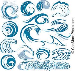 Una colección de olas