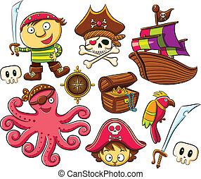 Una colección de piratas