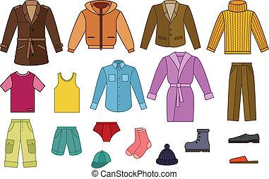 Una colección de ropa masculina
