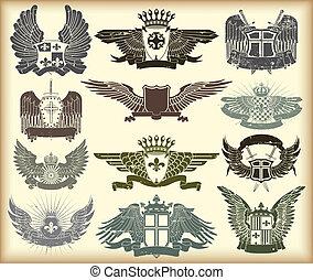 Una colección de sellos heráldicos