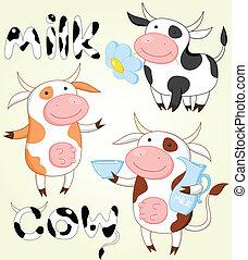 Una colección de vacas divertidas