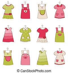 Una colecta de ropa de niña