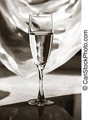 Una copa de champaña