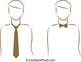 Una corbata y un moño