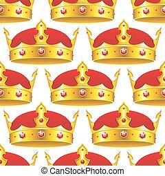 Una corona dorada en perfecto estado