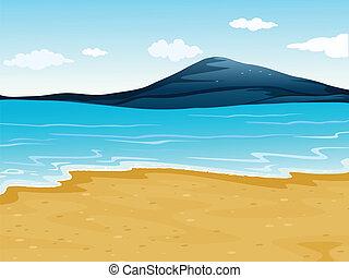 Una costa marina