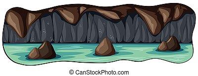 Una cueva de río subterráneo aterradora