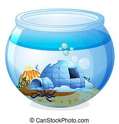 Una cueva dentro del acuario