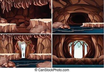 Una cueva natural