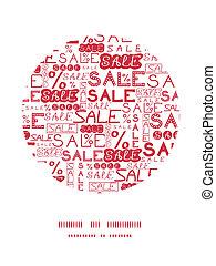 Una decoración de círculos de ventas
