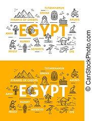 Una delgada línea de viaje por Egipto y puntos de referencia culturales