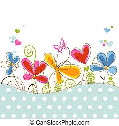 Una ducha de bebé floral